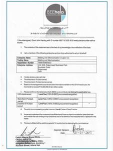 BEE Certificate